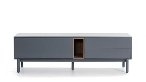 Comoda TV Corvo Pearl Grey 180 cm