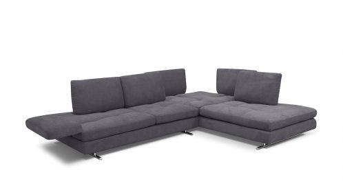 Canapea de colt Luna, dreapta, textil Berlin Ash