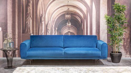 Canapea liniara Dalt 3 locuri Brezza Turquoise