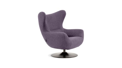 Fotoliu rotativ Plum Velvet Piano Light Purple