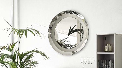 Oglinda rotunda Surface Glass Grey