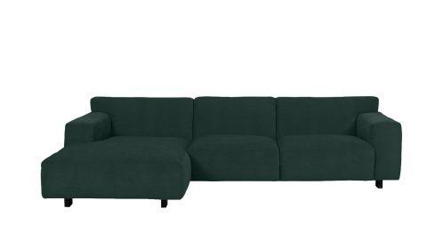 Canapea de colt Vesta Paris Emerald, stanga