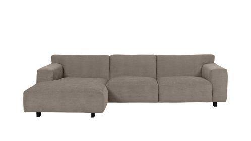 Canapea de colt Vesta Paris Taupe, stanga