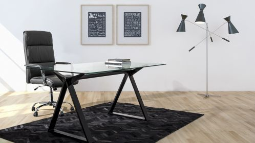 Birou Job Black 150x90