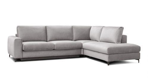 Canapea de colt extensibila Bella Salvador Light Grey S1, dreapta