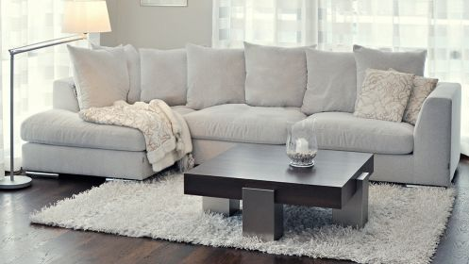 Canapea de colt cu sezlong Paso Doble Night textil Grey light, stanga