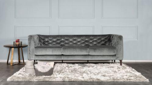 Canapea Liniara 3 locuri Maxi Piacere Textil Dark Grey