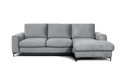Canapea de colt extensibila Bella Piano Light Grey S3, dreapta