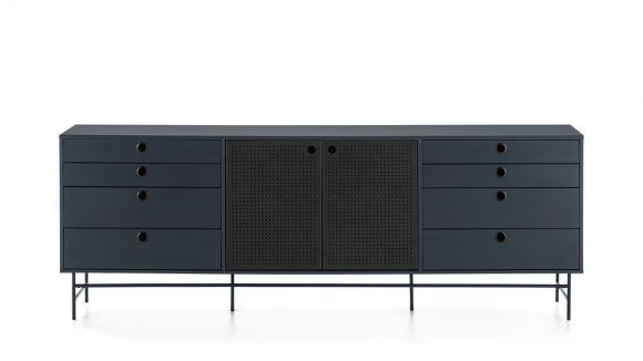 Comoda Punto Black/Blue 210 cm