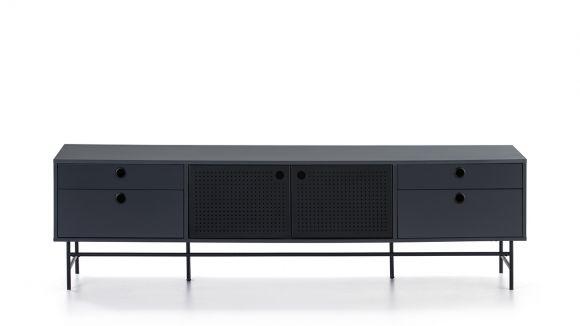 Comoda TV Punto Black/Blue 180 cm